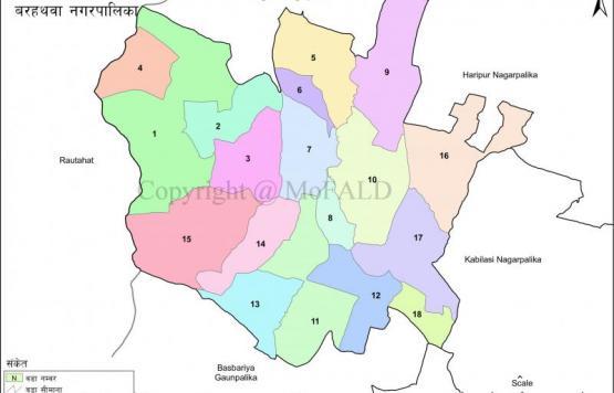 बरहथवा नगरपालिका को GIS नक्सा
